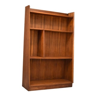 Dillingham Tapered Walnut Bookshelf Display Case