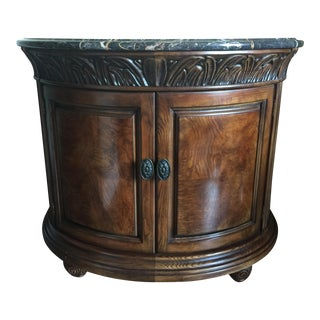 Henredon Bow Front Marble Top Cabinet