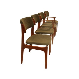 Erik Buch for Oddense Maskinsnedkeri Teak Dining Chairs - Set of 4