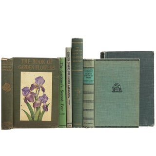 Vintage Gardening Book Stack - Set of 6