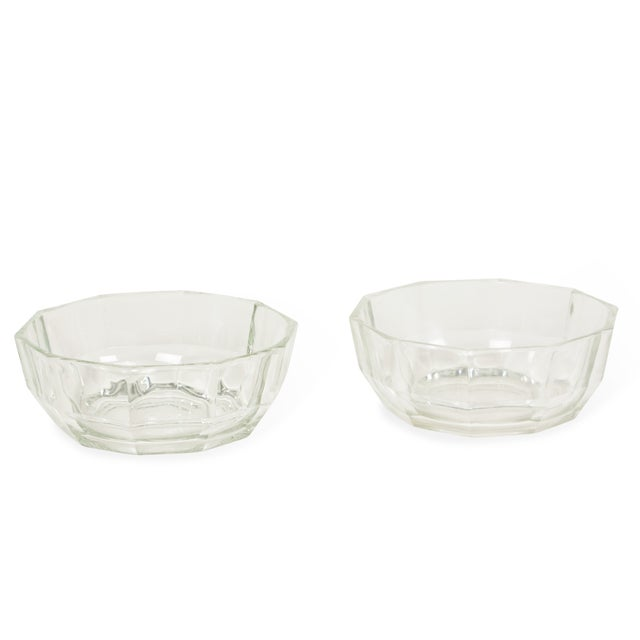 Image of 1960s Italian Crystal Decagonal Bowls - A Pair