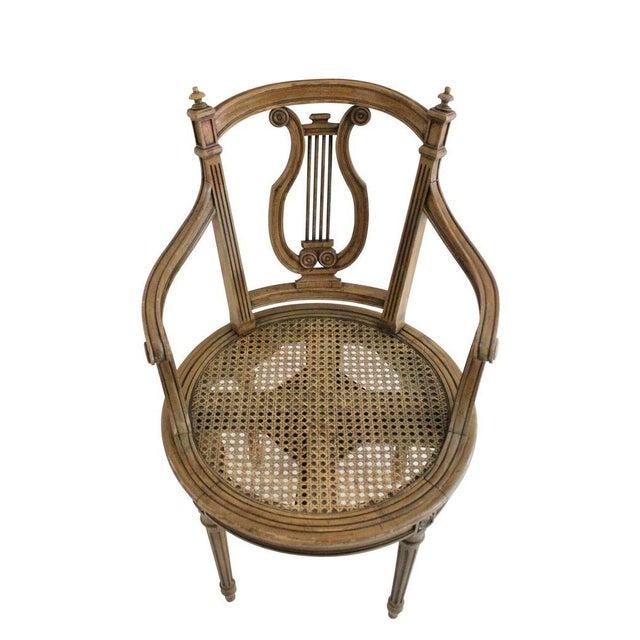 Walnut Swivel Vanity Chair - Image 2 of 3