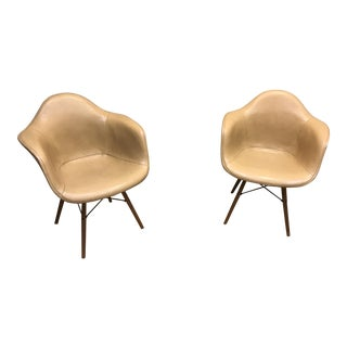 Eames Vinyl Lounge Chairs - A Pair