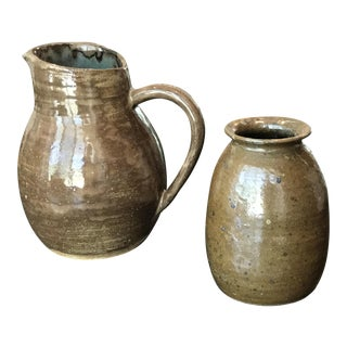 Mid-Century Studio Pottery Pitcher - A Pair