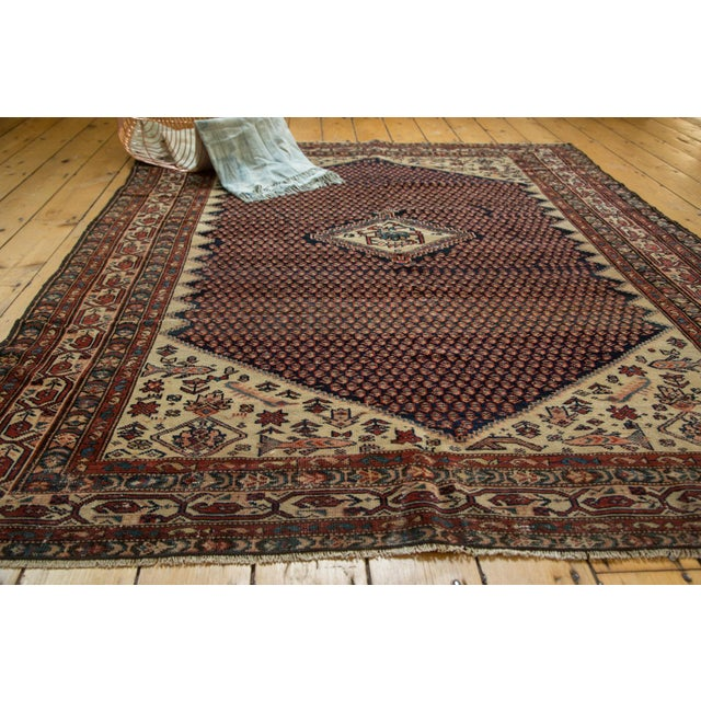 """Vintage Mission Malayer Square Rug - 5'5"""" x 6'7"""" - Image 3 of 10"""