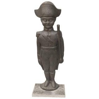 Vintage Metal Soldier Figurine on Stand