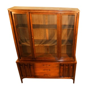 Kent Coffey Perspecta Mid-Century Modern China Hutch Cabinet