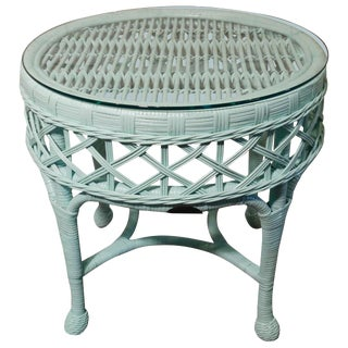 The Smithsonian Collection Wicker Round Accent Table