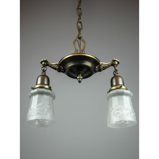 Original Pan Light Fixture (2-Light) - Image 4 of 9