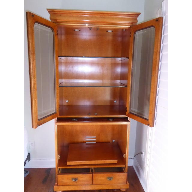 Mt. Airy Entertainment Display Armoire Cabinet - Image 4 of 11
