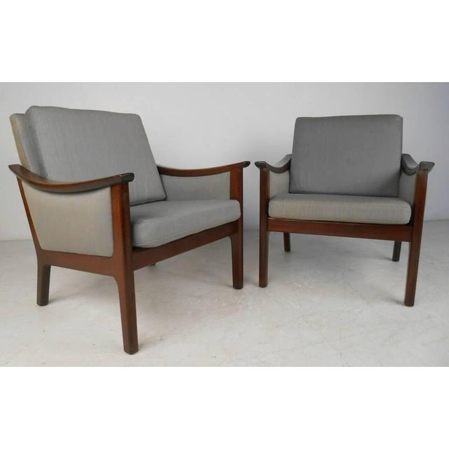 Mid-century Ole Wanscher Style Living Room Suite - Image 4 of 10