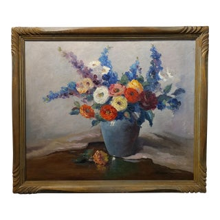 Nell Walker Warner- Large Floral Still Life -Beautiful Oil painting -Impressionist c1920s