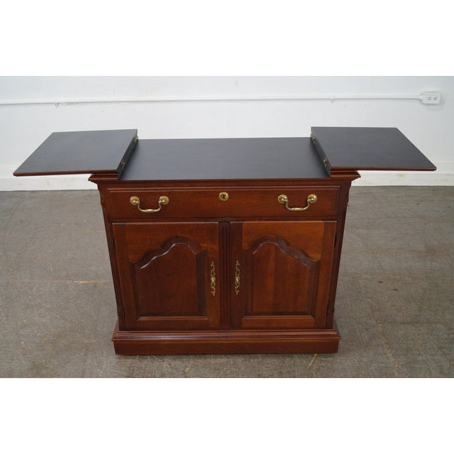 Pennsylvania House Solid Cherry Flip Top Server - Image 9 of 10