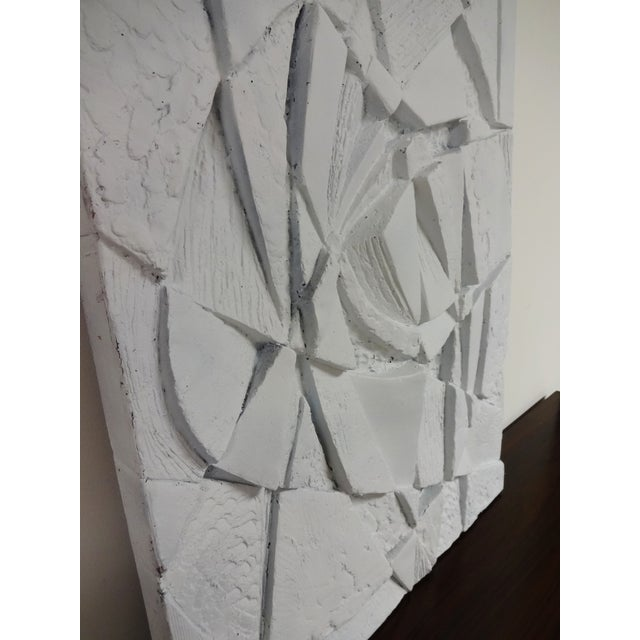 Mid-Century 3D Geometric Wall Hanging Sculpture - Image 10 of 10