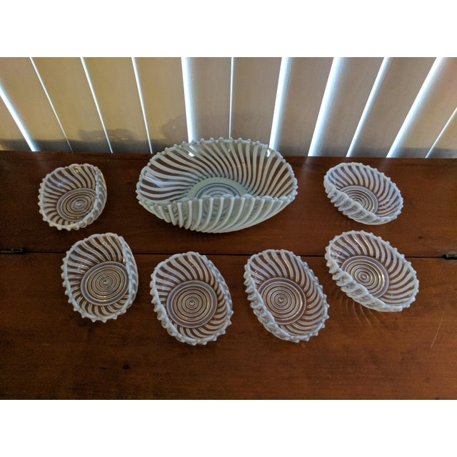 Antique Pressed Opalescent Bowls - Set of 7 - Image 2 of 6