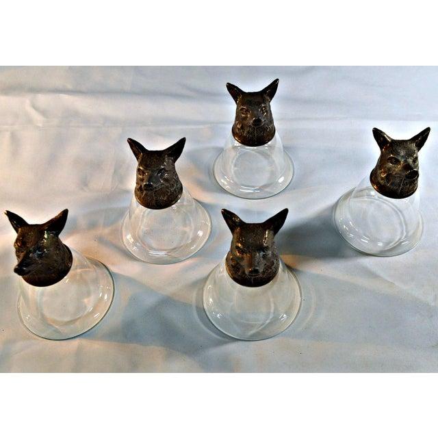 Wolf Head Stirrup Goblets - Set of 5 - Image 7 of 10