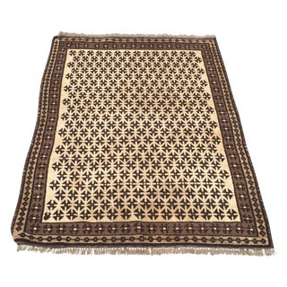 Turkish Oushak Rug - 4′9″ × 3′7″