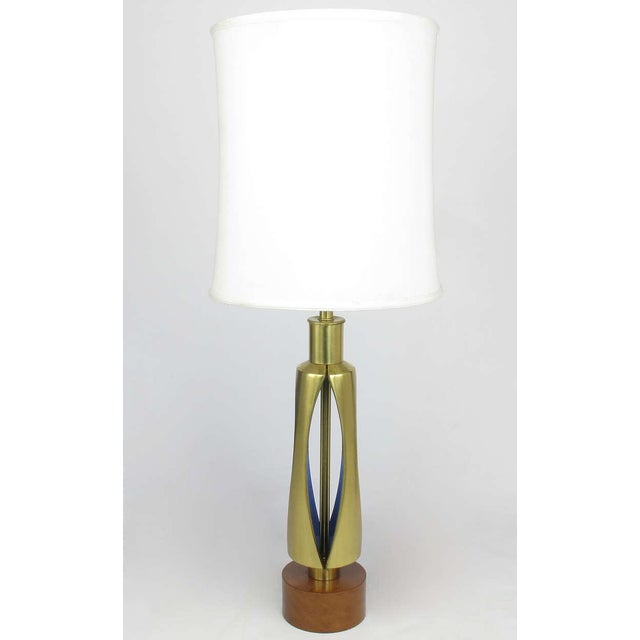 Rembrandt Brass & Azure Blue Table Lamp - Image 3 of 7