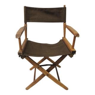 Vintage Artisan Made Wood Director Chair