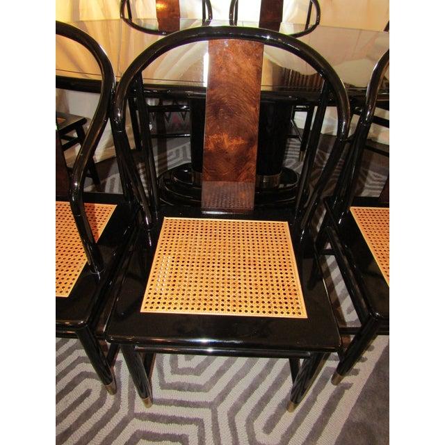 Henredon Black Lacquer Dining Set - 9 Pieces