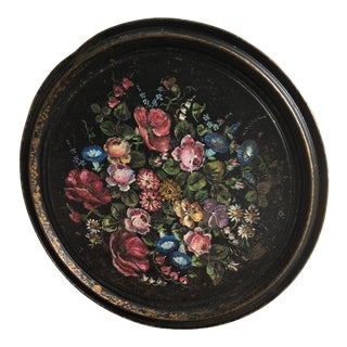 Vintage Floral Tole Tray