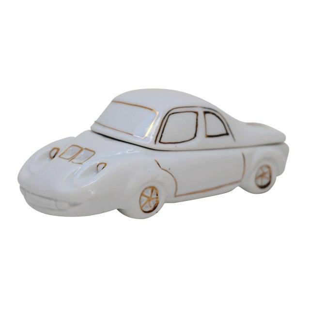 White Porcelain Car-Shaped Stash Box - Image 1 of 6