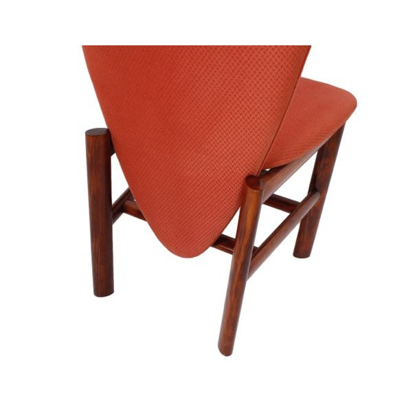 Danish Modern Rosewood 'Heart' Chairs - Set of 6 - Image 6 of 8