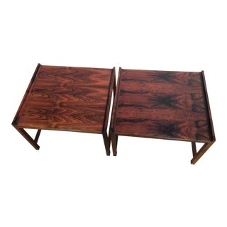 Brode Blindheim Rosewood Side Tables - Pair