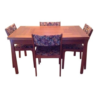1980's Teak Dining Table & 4 Chairs