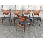 Image of Ostervig Teak Leather Butterfly Chairs - Set of 5