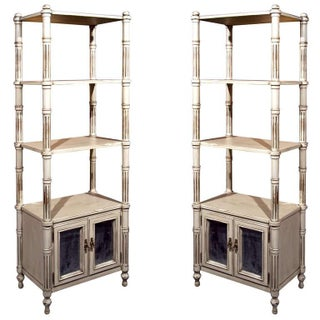 vintage used white shelving chairish. Black Bedroom Furniture Sets. Home Design Ideas