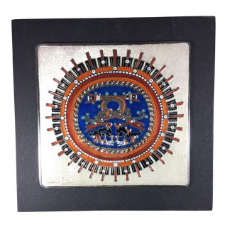 Mexican Handcrafted Enamel Plaque
