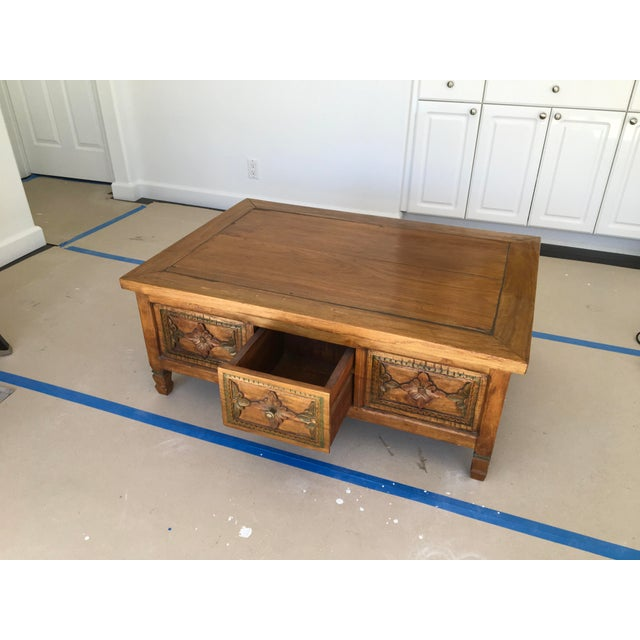 Image of Hand Carved Coffee Table
