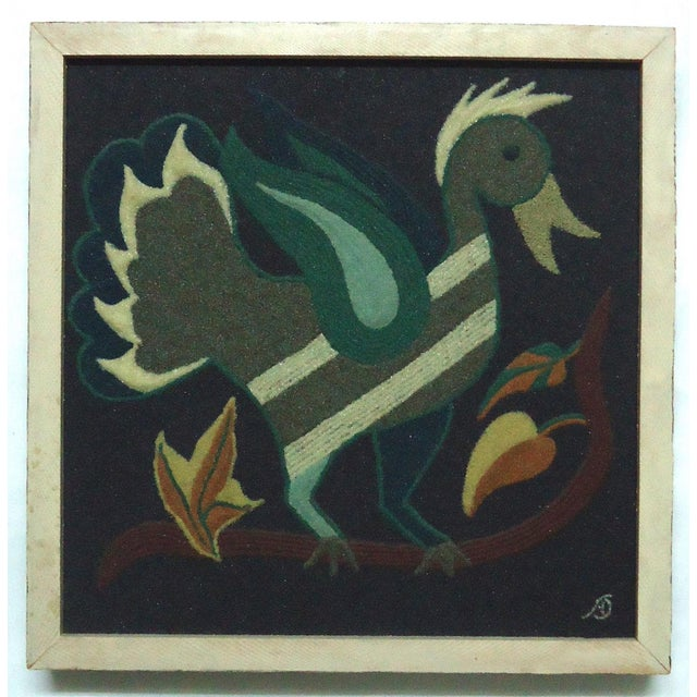 Folk Art Duck Sand Painting - Image 2 of 9