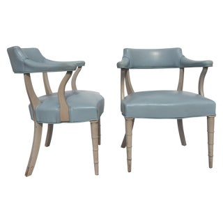 Faux Bamboo Captain's Chairs - A Pair