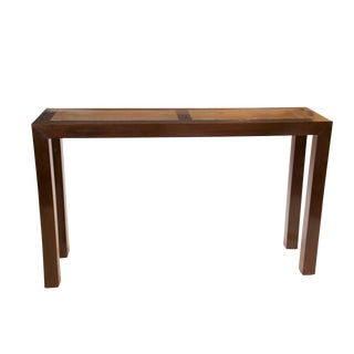 Elm with Stone Top Dark Brown Console