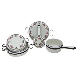 French Porcelain Cookware - 5 Pieces