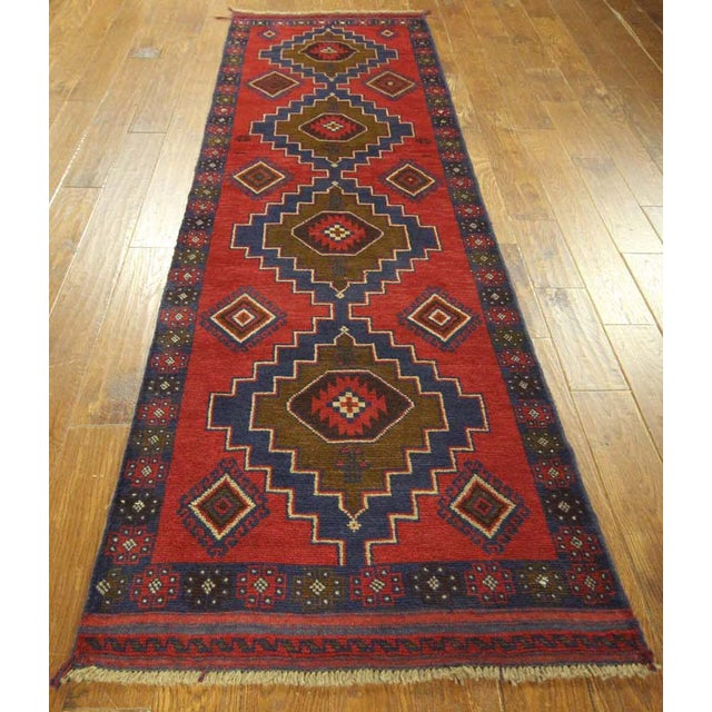"Persian Tribal Baluch Runner Rug - 2'6"" x 9' - Image 3 of 7"