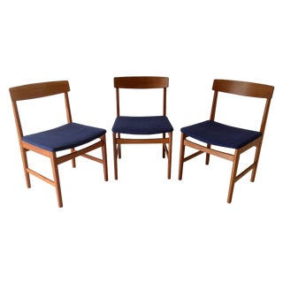 Danish Modern Ulferts Teak Chairs - Set of 3