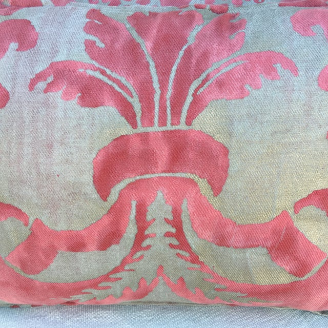 Fortuny Pink & Gold Pillows - A Pair - Image 3 of 5