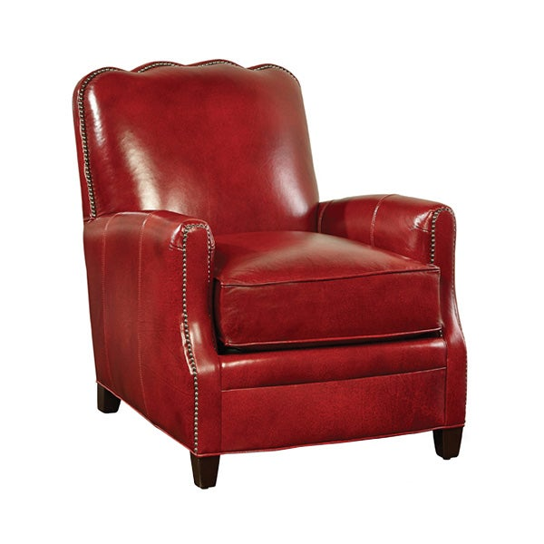 Image of Huntington House Red Leather Chair with Nailhead