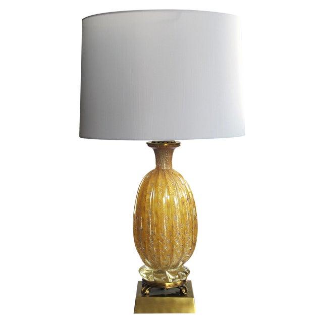 Luxury Murano Butterscotch Art Glass Lamp by Barovier e Toso | DECASO