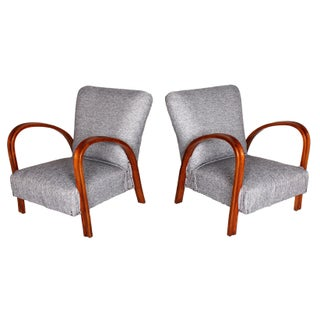 Italian Art Deco Armchairs - A Pair