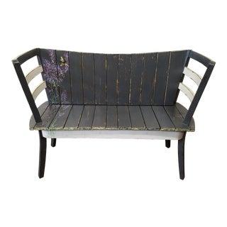Repurposed Chair Indoor/Outdoor Bench