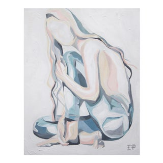 Girl in Denim Modern Figurative Painting by Emily Powell