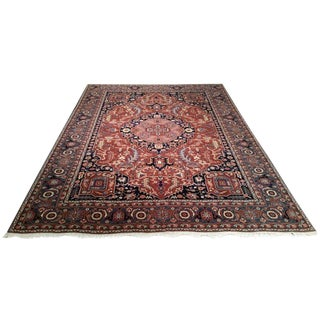 Traditional Romania Hand Made Knotted Rug - 9′ × 12′