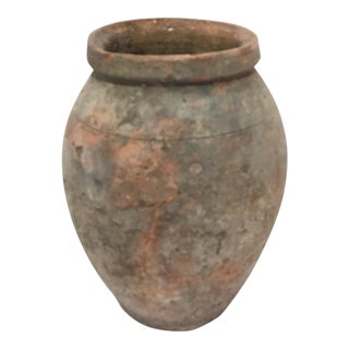 Mediterranean Turkish Ceramic Olive Oil Pot