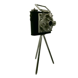 Vintage Black & Chrome Camera