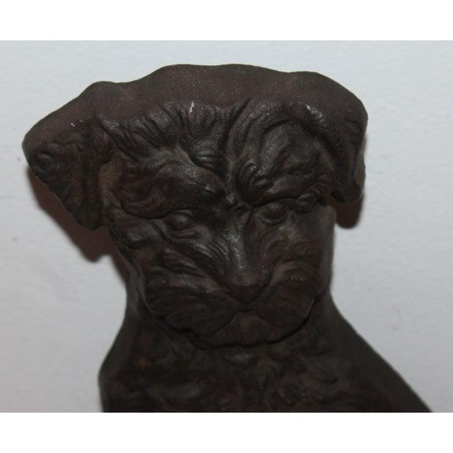 Monumental 19Thc Cast Iron Dog - Image 5 of 6