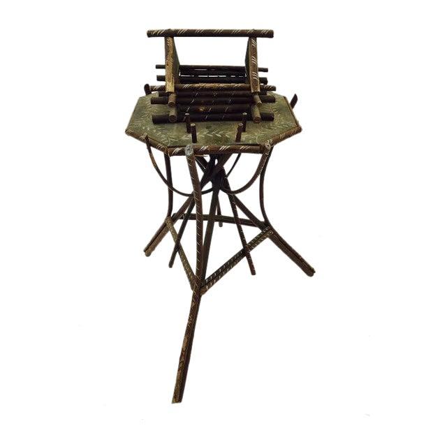 Folk Art Twig Game Table - Image 1 of 7